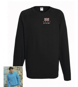 Army Be The Best Embroidered Sweatshirt